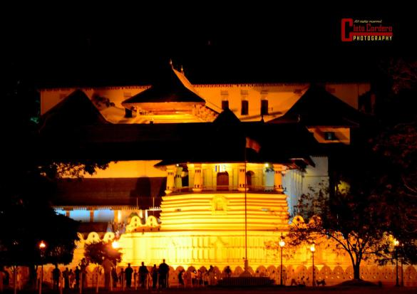 The Temple of the Tooth Relic in Kandy City, considered as one of the holiest places in Sri Lanka which houses the surviving relic of Buddha, his tooth.