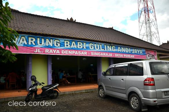 This warung is at the right side of Jalan Raya Denpasar on the way to Ulun Danu, Bedugul.