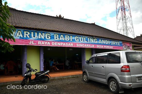 This warung is at the right side of Jalan Raya Denpasar on the way to Ulun Danu, Bedugul.