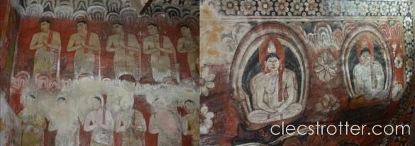 Century old-murals inside the temple are well preserved.