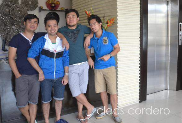 The four of us (L to R: Dulah, Syaoran, me, & June) during our trip to Cebu.