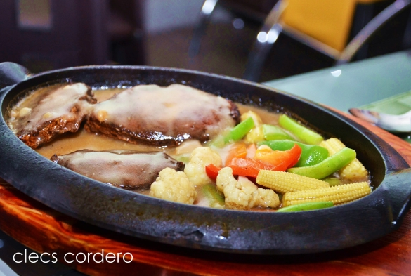 Sizzling tanigue steak. I think I was the only one who ate this.